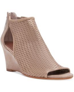 Jace Perforated Wedge Sandals