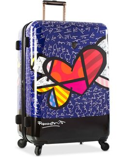 """Britto Heart With Wings 30"""" Expandable Hardside Spinner Suitcase"""
