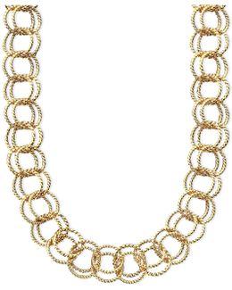 Textured Round-link Necklace