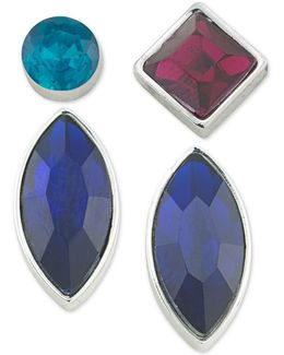 Silver-tone 4-pc. Mix-and-match Earring Set