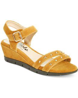 Plush Wedge Sandals