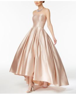 Strapless High-low Ball Gown