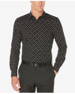 Men's Non-iron Stretch Star-print Shirt
