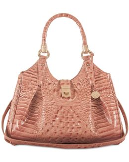 Melbourne Collection Elisa Croco-embossed Hobo Bag