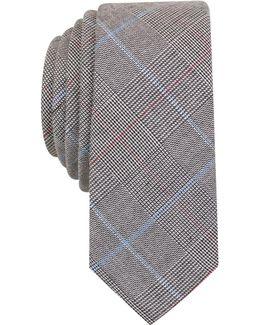 Men's Xenia Plaid Skinny Tie