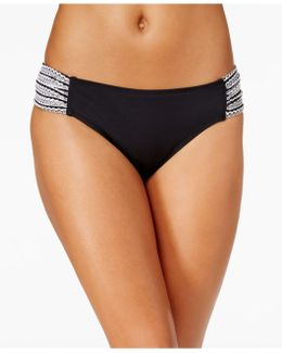 Crochet Shirred-side Hipster Bikini Bottoms