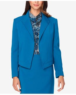 Petite Wing-collar Seamed Jacket