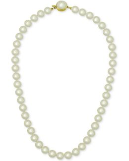 18k Gold Vermeil White Imitation Pearl Collar Necklace