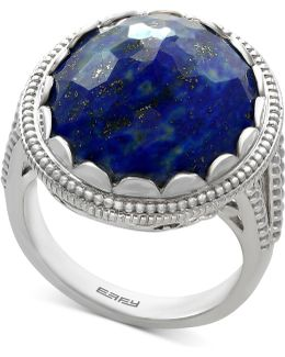 Lapis Lazuli Statement Ring (12-1/5 Ct. T.w.) In Sterling Silver