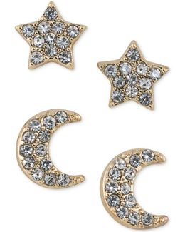Gold-tone 2-pc. Set Crystal Stud Earrings