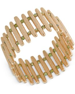 Gold-tone Bar Stretch Bracelet