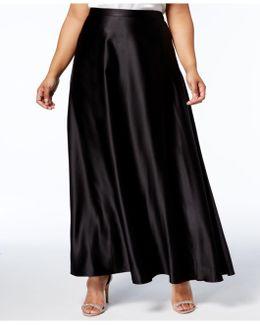 Plus Size A-line Maxi Skirt