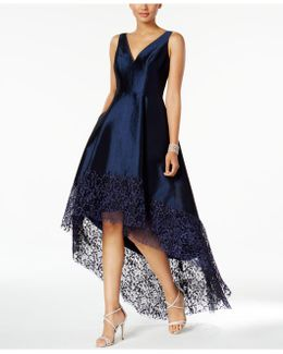 Lace-trim High-low Gown