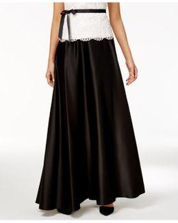 Petite Pleated A-line Skirt