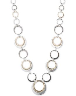 Tri-tone Circle Collar Necklace