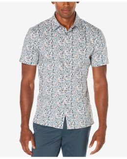 Men's Big & Tall Exclusive Painted Floral Shirt