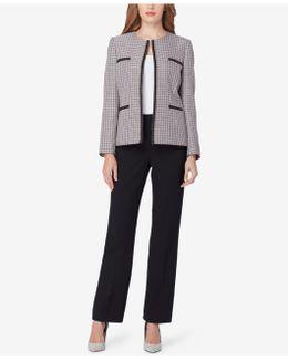 Chain-trim Tweed Pantsuit