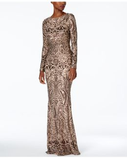Petite Sequined Gown