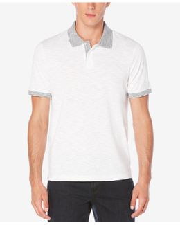 Men's Big & Tall Space-dyed Trim Polo