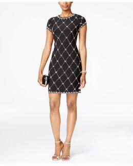 Petite Embellished Sheath Dress