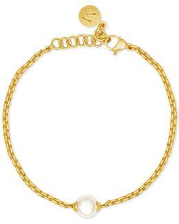Gold-tone Imitation Pearl Bracelet