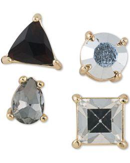 Gold-tone 4-pc. Set Stone Single Stud Earrings