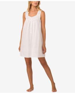 Lace-trim Cotton Nightgown