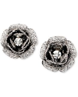 Rose Bud Stud Earrings