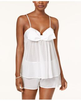 Dotted Jacquard Cami & Shorts Pajama Set