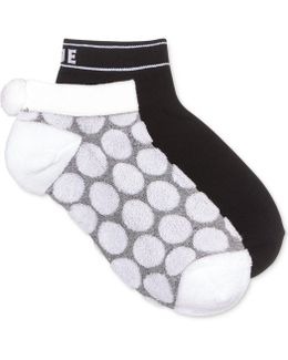 Women's 2-pk. Dot Pom Pom No Show Socks