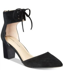 Nicole Block-heel Lace-up Pumps