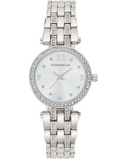 Women's Pavé Rose Gold-tone Bracelet Watch 28mm
