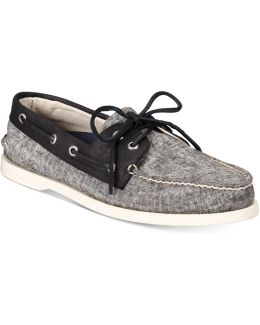 Men's A/o 2-eye Linen Boat Shoes