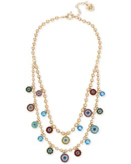 Gold-tone Multi-charm Double Layer Necklace