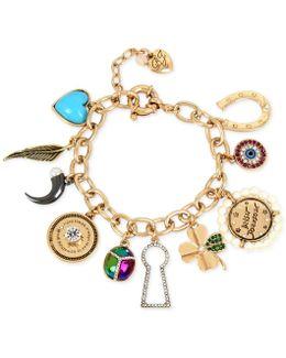 Gold-tone Multi-charm Bracelet