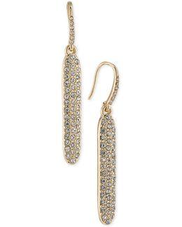 Gold-tone Pavé Linear Drop Earrings