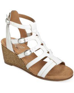 Sparkle Wedge Sandals