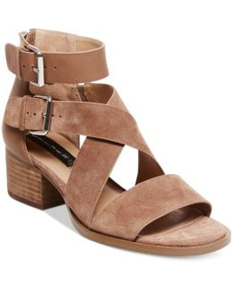 Elinda Strappy Block-heel Sandals