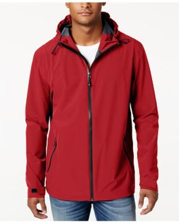 Men's Storm Tech Hooded Camo Rain Jacket