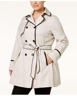 Plus Size Corset Trench Coat