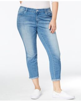 Trendy Plus Size Curzon Wash Cropped Jeans