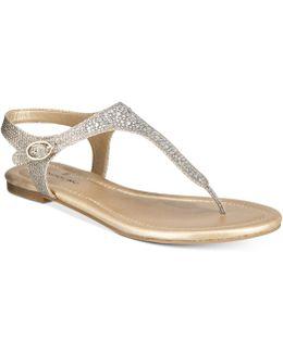 Kyrie Embellished Flat Sandals