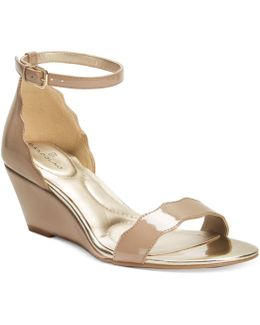 Opali Scalloped Wedge Sandals