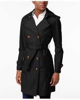 Double-breasted Belted Raincoat