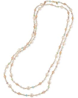 Gold-tone Beaded Extra Long Necklace