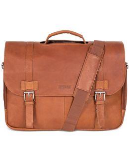 Messenger Bag, Columbia Leather Flapover Portfolio