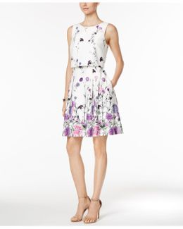 Floral-print Popover Dress