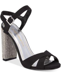 Hayley Block-heel Evening Sandals