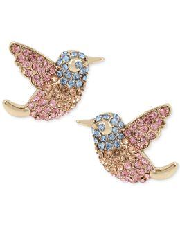 Pavé Bird Stud Earrings
