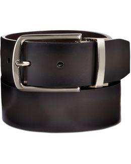 Men's Portfolio Leather Burnished Gray Reversible Belt